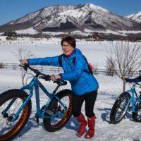 雪サイクリング
