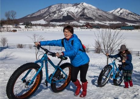 ひるぜん雪恋まつり自転車