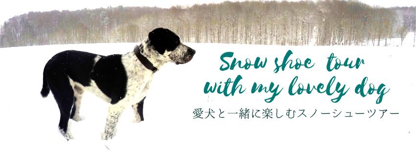 愛犬スノーシューツアー