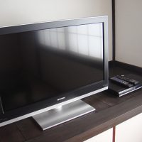 The television of 32 inches ,the DVD and  CD deck