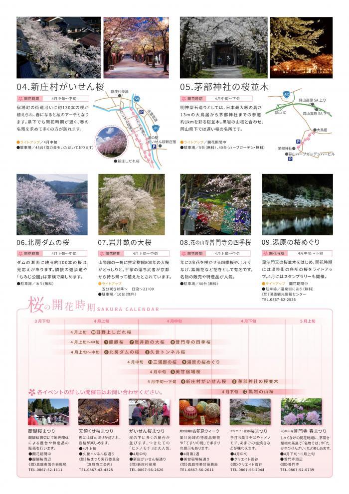 真庭・新庄 山さとの春「ひとつきの桜めぐり」